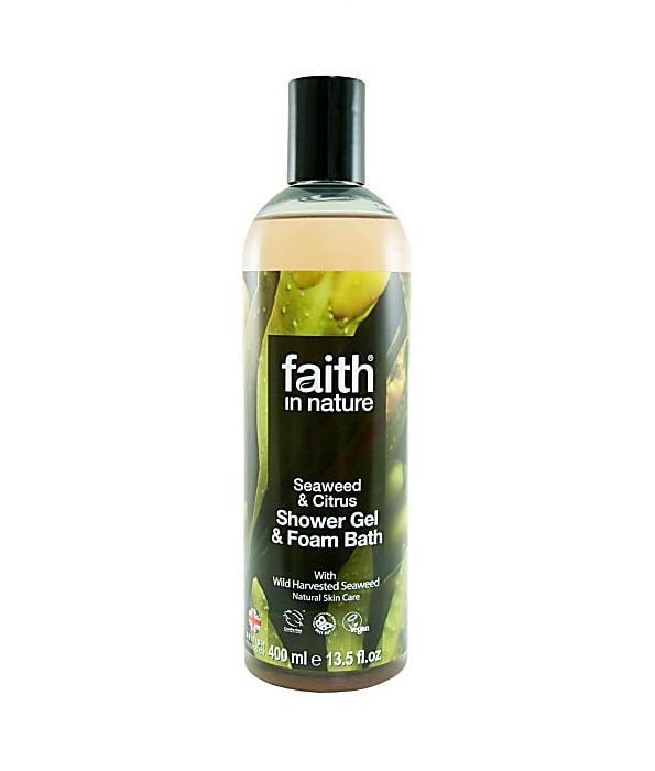 Гель для душа Пена для ванны натуральная Faith in nature с маслом Морских водорослей, 400мл