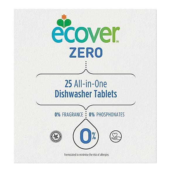 Средства для посудомоечной машины Экологичные таблетки Ecover Zero All in One для посудомоечной машины, 25 шт