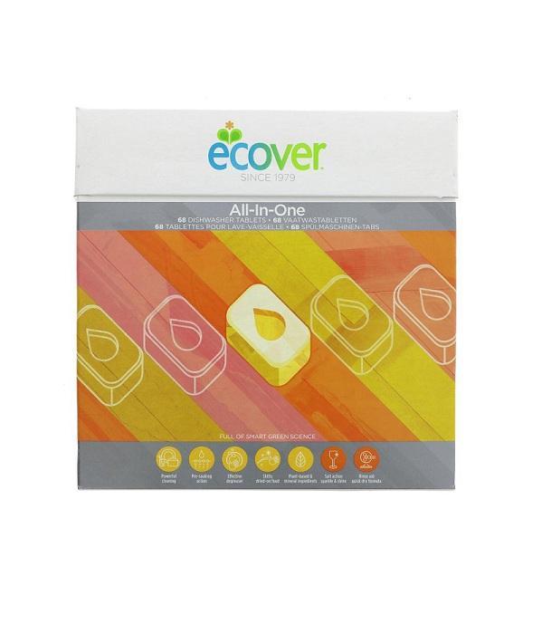 Средства для посудомоечной машины Экологичные таблетки Ecover All in One, 68 шт