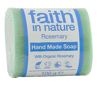 Антибактериальное мыло ручной работы Faith in nature 100г с экстрактом листьев Розмарина