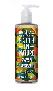 Антибактерильное жидкое мыло Faith in nature 300 мл с маслами Грейпфрута и Апельсина