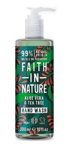 Антибактерильное жидкое мыло Faith in nature 300 мл с маслами Алоэ Вера и Чайного Дерева