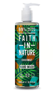 Антибактерильное жидкое мыло Faith in nature 300 мл с маслами Кокоса и семян Подсолнечника