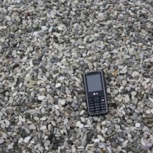 Галька черноморская фр. 5-10 мм.