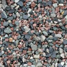 Щебень галтованый микс (серый-зеленый-розовый) фр.10-20 мм.