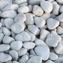 Щебень галтованый белый (известняк) фр.40-70 мм.