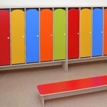 Шкафчики для раздевалок «Лидер-детский» ЛДСП