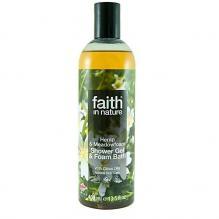 Гель для душа Пена для ванны натуральная Faith in nature с маслами семян Конопли и Пенника лугового, 400мл