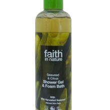 Гель для душа Пена для ванны натуральная Faith in nature с маслом Морских водорослей, 250мл