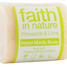 Увлажняющее мыло ручной работы Faith in nature 100г с экстрактами Ананаса и Манго