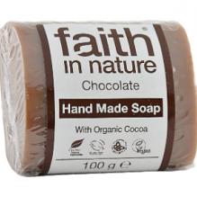 Омолаживающее мыло ручной работы Faith in nature 100г с маслом Шоколадного дерева (Какао)