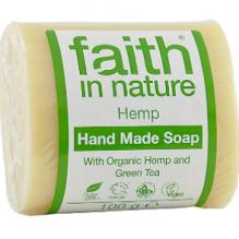 Увлажняющее мыло ручной работы Faith in nature 100г с маслом семян Конопли