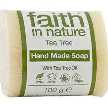 Антибактериальное мыло ручной работы Faith in nature 100г с маслом Чайного Дерева