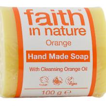 Увлажняющее мыло ручной работы Faith in nature 100г с маслом Апельсина