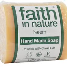 Тонизирующее мыло ручной работы Faith in nature 100г с маслами Нима и цитрусовых