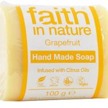 Мыло ручной работы Faith in nature 100г с эфирным маслом Грейпфрута, Апельсина и Литсеи Кубеба