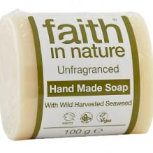 Мыло ручной работы Faith in nature 100г для чувствительной кожи с экстрактом Морских Водорослей