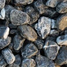 Щебень галтованый черный (мрамор) фр. 50-100 мм.